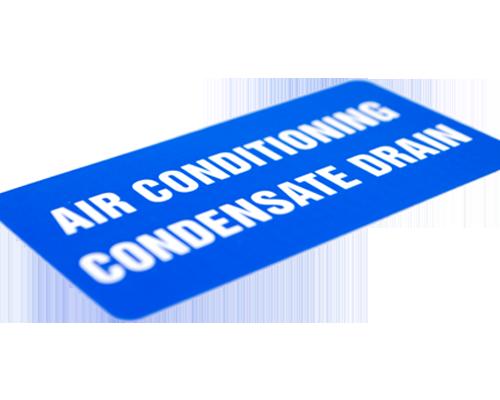 Cold Resistant Air Con Label
